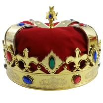 King's Crown - Red Costume Hat for Royal King Prince