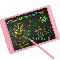 LCD Writing Tablet 11 Inch Digital Electronic Graphic Drawing Tablet Erasable Portable Doodle Writing Board for Kids Christmas Birthday Gifts (11 Inch, Pink)