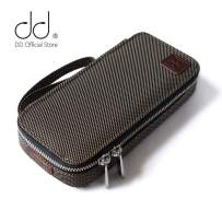 DD ddHiFi Portable HiFi Music Player Carrying Case C-2019 Brown Protective Storage Organizer Bag On-The-go for Sony AK Astell&Kern FiiO DAP MP3 DAC AMP Amplifier Earphones IEM Cable Micro SD Card