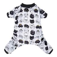 CuteBone Dog Pajamas Puppy Birthday Clothes Doggie Pjs Pet Jumpsuit Cat Apparel