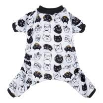 CuteBone Dog Pajamas Puppy Birthday Clothes Doggie Pjs Pet Jumpsuit Cat Apparel