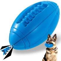 Tough Dog Toys for Aggressive Chewers Large Breed, Apasiri Squeaky Dog Toys Ball, Aggressive Chew Toys for Large Dogs, Puppy Teething Toys, Durable Indestructible Pet Toys for Medium Big Dogs Blue