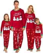 Tkria Matching Family Pajamas Christmas Deer Sleepwear Cotton Holiday Pjs Set