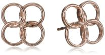 Rose Gold-Plated Sterling Silver Small Celtic Knot Stud Earring
