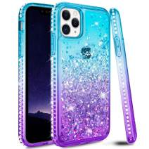 Ruky iPhone 11 Pro Max Case, iPhone 11 Pro Max Glitter Case Bling Colorful Quicksand Series Soft TPU Flowing Liquid Floating Sparkle Diamond Girls Women Phone Case for iPhone 11 Pro Max (Aqua)