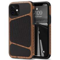 Tasikar Compatible with iPhone 11 Case Easy Grip Wood Grain with Nylon Fabric Leather Design Compatible with iPhone 11