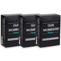 OUR MOMENTS Families (Bundle of 3): 100 Thought Provoking Conversation Starters Questions. Great Parent to Child / Grandparent to Grandchild Meaningful Communication for Healthy Family Development