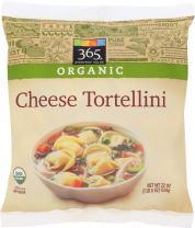 365 Everyday Value, Organic Cheese Tortellini, 22 oz, (Frozen)