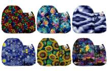 Mama Koala One Size Baby Washable Reusable Pocket Cloth Diapers, 6 Pack with 6 One Size Microfiber Inserts (Charming)