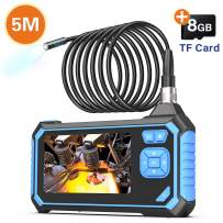 Industrial Endoscope,SKYBASIC 1080P HD Digital Borescope 4.3 Inch LCD 1.6-198inch Focal Distance Snake Camera 2600mAh Video Inspection Camera with 8GB TF Card(16.5FT)