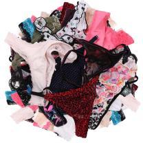 UWOCEKA Sexy Thongs for Women,Varity of T-Backs Sexy Underwear 20 Pack of G Strings Lacy Undies Panties Tanga