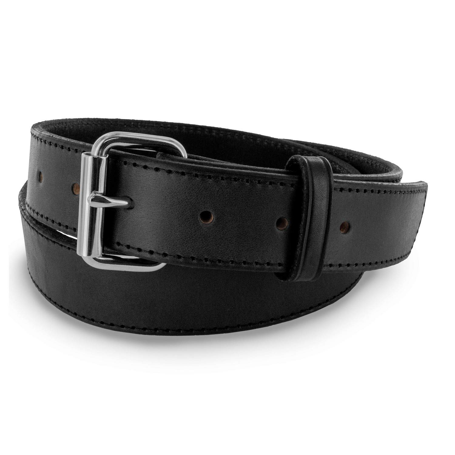 "Hanks Stitch Gunner Belts - 1.5"" Best Vaue in A Concealed Carry Belt - USA Made 13OZ Leather - 100 Year Warranty"
