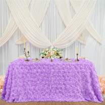 Lavender Rosette Tablecloth 50 x 80 Inch Easter Table Cloth Table Cover for Birthday Party Table Decorations
