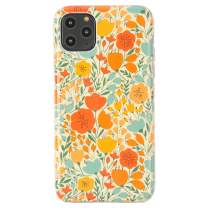 """Dimaka iPhone 11 Pro Max Case, Vintage Floral Girly Case Pattern Design Protective Case for iPhone 11 Pro Max 6.5"""" (Retro Painted Flower)"""
