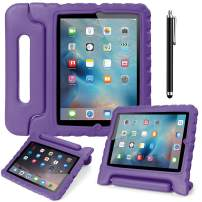 AICase Case for iPad 2 3 4,Kids Shockproof Bumper Hard Cover Handle Stand with Screen Protector for iPad 2nd 3rd 4th Generation (Purple)