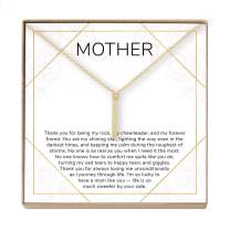 Dear Ava Mother Gift Necklace, Mother's Day Necklace, Mother Daughter, Bar (Gold-Plated-Brass, NA)