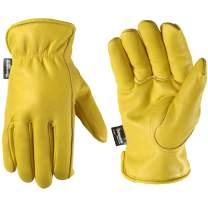 Men's Fleece-Lined Thinsulate Winter Leather Work Gloves (Wells Lamont 1108XXX)