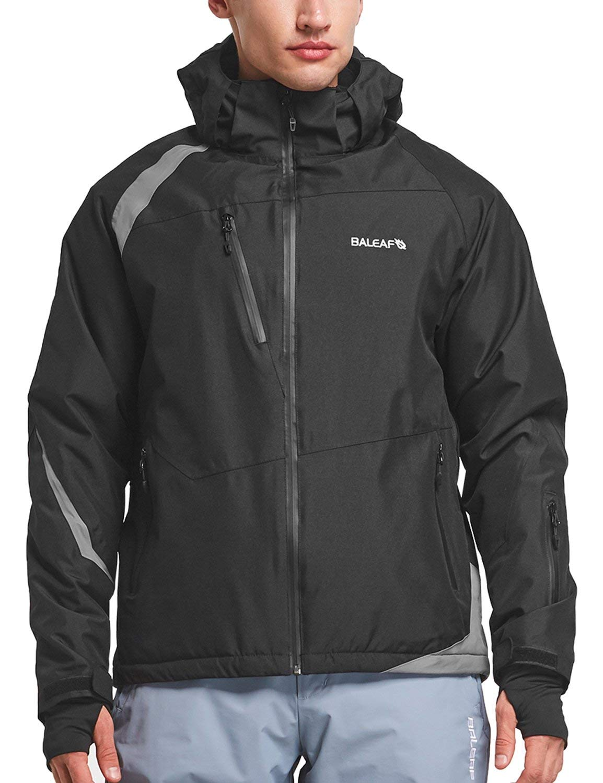 BALEAF Men's Waterproof Ski Jacket Mountain Windproof Winter Snow Coat Rain Jacket