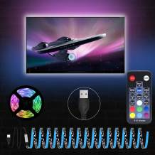 LED Strip Lights, 9.85ft S Shape TV LED Backlights Kit for 40-60 in TV with 18-Key RF Remote, SMD 5050 RGB LED Strips USB Powered for Under Cabinet Lighting, Bias Lighting, Home Theater Decoration