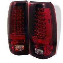 Chevy Silverado 1500/2500 03-06 (Not Fit: Bran Door) / GMC Sierra 1500/2500/3500 04-06 (Fleetside only) LED Tail Lights - Red Clear