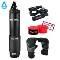 MaxxMMA 5 ft Water/Air Heavy Punching Bag Kit (Adjustable Weight 70-140 Pounds)