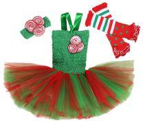 Tutu Dreams 3pcs Christmas Costume for Girls Tutu Dress with Headwear and Leggings