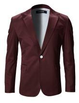FLATSEVEN Mens Slim Fit Stylish Peaked Lapel Blazer Jacket