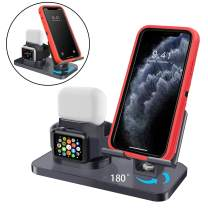 AICase 3 in 1 Charging Stand Compatible with iWatch Series 5/4/3/2/1, AirPods Pro/2/1 and iPhone 11/11 Pro/11 Pro Max/X/XS/XS Max/XR/8/8Plus/7/7 Plus/6S /6S Plus
