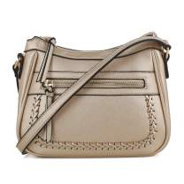 EMPERIA Elva Small Whipstitch Vegan Leather Crossbody Bags Shoulder Bag Purse Handbags for Women