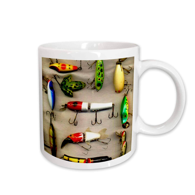 3dRose Old Lures Fishing Mug, 11-Ounce