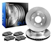 R1 Concepts KEOE11495 Eline Series Replacement Rotors And Ceramic Pads Kit - Rear