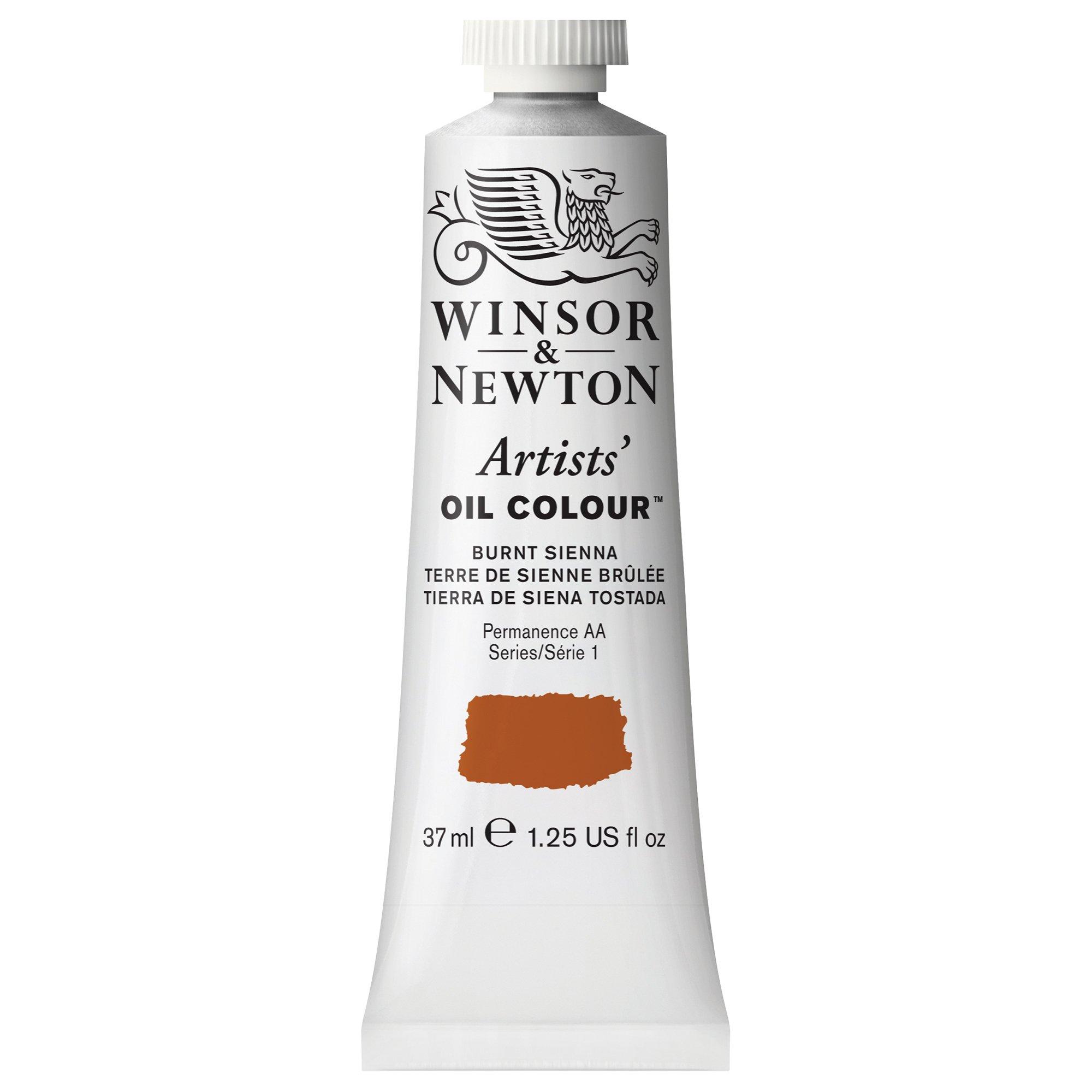 Winsor & Newton , Burnt Sienna Artists' Oil Colour Paint, 37ml Tube, 37-ml