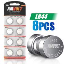 8 Pack LR44 AG13 A76 Battery - [Ultra Power] Premium Alkaline 1.5 Volt Non Rechargeable Round Button Cell Batteries for Watches Clocks Remotes Games Controllers Toys & Electronic Devices (8 Pack)