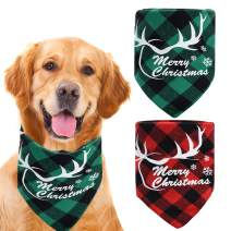 ZOORON Dog Bandana, Pet Bandanas Triangle Bibs Washable Dog Scarves for Small and Larger Dogs
