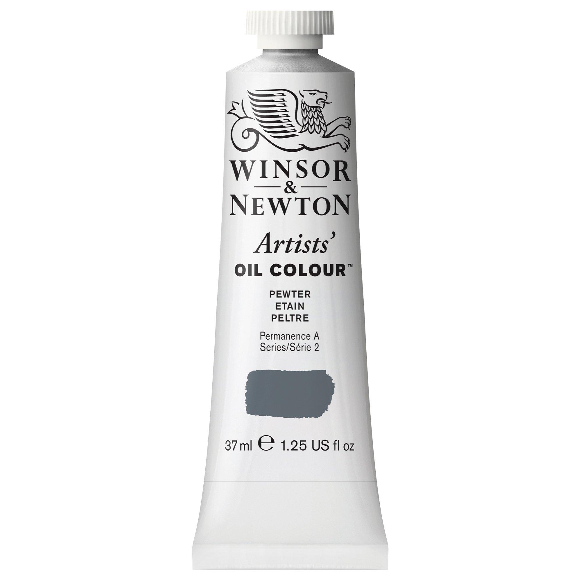 Winsor & Newton Artists' Oil Colour Paint, 37ml Tube, Pewter