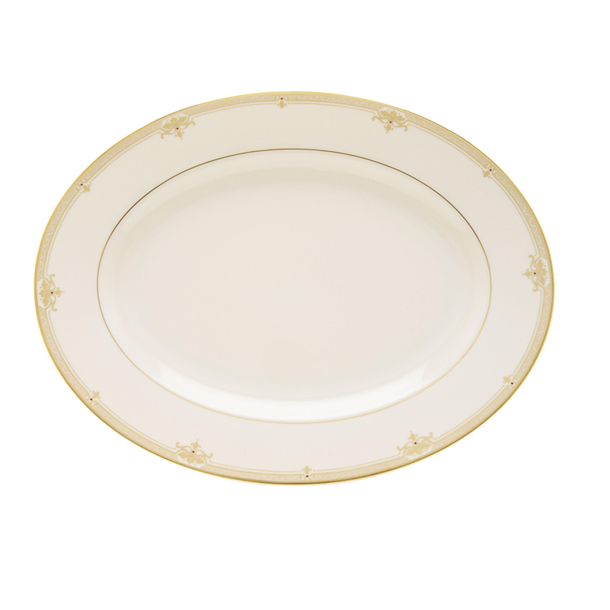 "Lenox 6044838 Republic 16"" Oval Serving Platter, White"