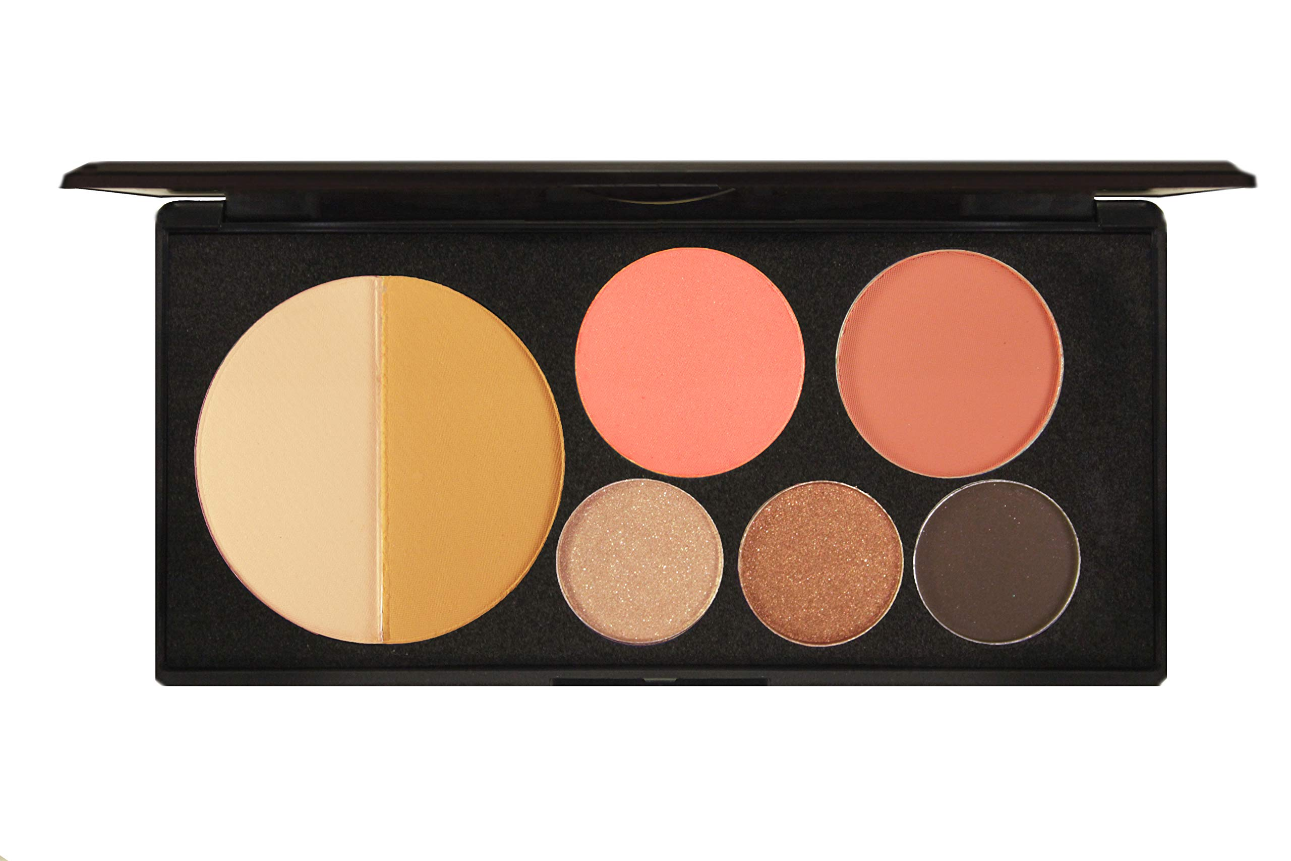 EVE PEARL Ultimate Face Palette Powder Eyeshadow Blush Long Lasting Natural Double Pigmented Glamour Makeup Set (Bombshell)