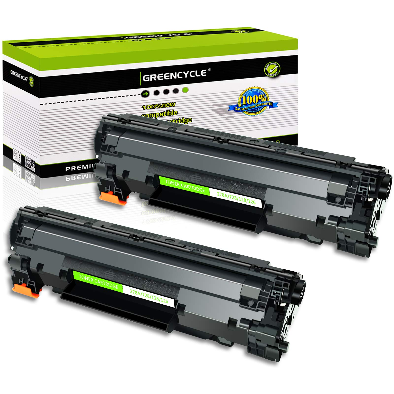 GREENCYCLE Compatible Toner Cartridge Replacement for Canon 126 CRG-126 CRG126 3483B001 for use in ImageClass LBP6200d and LBP6230dw LBP-6230dn LBP-6230 Wireless Laser Printers (Black,2 PK)
