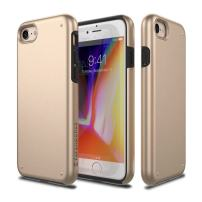 iPhone 8 Case, Patchworks [Chroma Series] Hybrid Soft Inner TPU Hard Matte Finish PC Back Cover Military Grade Drop Tested Dual Layer Case for iPhone 8 / iPhone 7 - Gold
