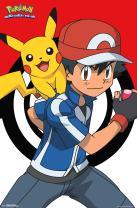 "Trends International Pokemon Ash and Pikachu Wall Poster 22.375"" x 34"""