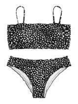 SweatyRocks Women's Bathing Suits Spaghetti Strap Ruffle Wrap Bikini Set Two Piece Swimsuits