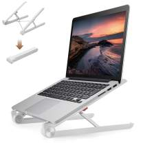 ELECOM Ergonomic Portable Foldable Laptop Stand/Multi-Angle Adjustable/Heat Vent/Laptop Up to 15.6 inches White PCA-LTSC2WH