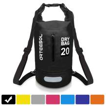 arteesol Waterproof Dry Bag, 5L/10L/20L/30L Lightweight Dry Sack for Boating Kayaking Swimming with Adjustable Shoulder Strap for Camping Snorkeling Beach Hiking Water Sports