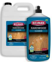 Weiman Hardwood Floor Cleaner Gallon and Refillable Squeeze Bottle - Finished Wood Surfaces