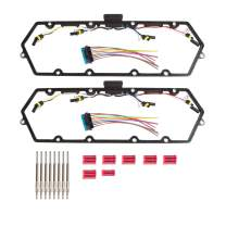 Valve Cover Gasket Set with Injector Glow Plug Harness Compatible with 1998-2003 ford 7.3L truck (F81Z-6584-AA)