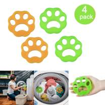 Pet Hair Remover for Laundry, Dogs and Cats Hair Catcher for Washing Machine, Laundry Hair Remover Balls, Reusable Cleaning Ball for Laundry Floating ,Pet Fur Catcher Filtering Hair Remover (4 Pack)