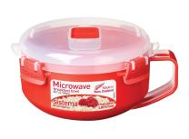 Sistema Microwave Collection Breakfast Bowl, 28.7oz./850ml, Red