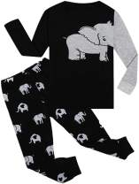 WWEXU Boys Pajamas Set Long Sleeve Toddler Pjs Kids Clothes Cotton Sleepwear