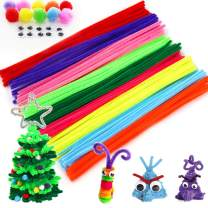 MOKARO 100 Pcs Pipe Cleaners 10 Colors Chenille Stems for Children's Day DIY Art Creative Craft Decorations (4.5 mm x 12 inch) (100)