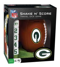 MasterPieces NFL Green Bay Packers Shake N' Score Travel Dice Game, for 2 Players, Ages 6+
